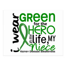 Green For Hero 2 Niece Kidney Disease Postcard