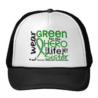 Green For Hero 2 Sister Kidney Disease Trucker Hat