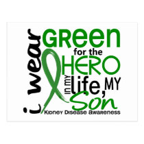 Green For Hero 2 Son Kidney Disease Postcard