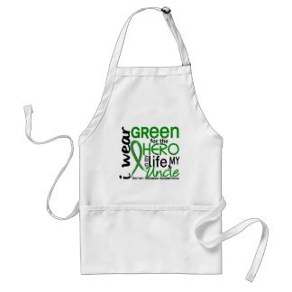 Green For Hero 2 Uncle Kidney Disease Adult Apron