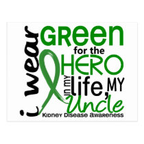 Green For Hero 2 Uncle Kidney Disease Postcard