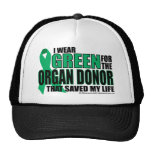 Green For Organ Donor Hat