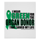 Green For Organ Donor Print