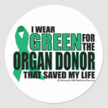 Green For Organ Donor Stickers