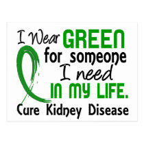 Green For Someone I Need Kidney Disease Postcard