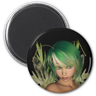 Green Forest Fairy 3D Close-Up Magnet