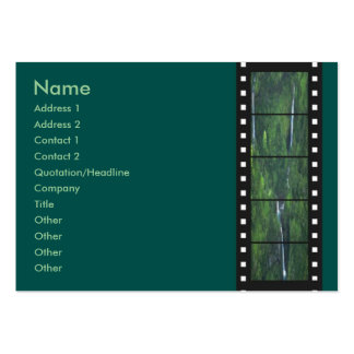 Green Forest Filmstrip Profile Card Large Business Cards (Pack Of 100)