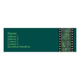 Green Forest Filmstrip Profile Card Double-Sided Mini Business Cards (Pack Of 20)