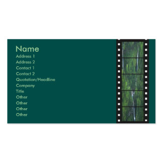 Green Forest Filmstrip Profile Card Double-Sided Standard Business Cards (Pack Of 100)