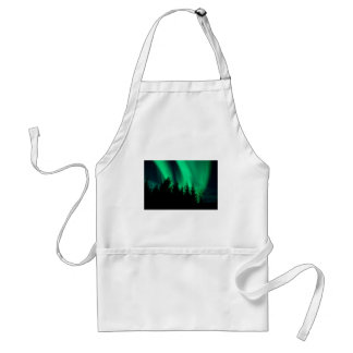 green forest fire adult apron