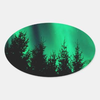 green forest fire oval sticker