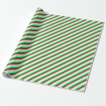 [ Thumbnail: Green, Forest Green, Crimson, and Beige Pattern Wrapping Paper ]