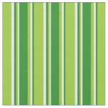 [ Thumbnail: Green, Forest Green & White Striped/Lined Pattern Fabric ]