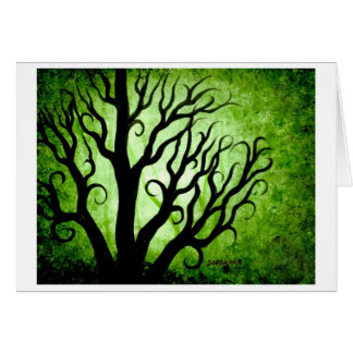 Green forest greeting cards