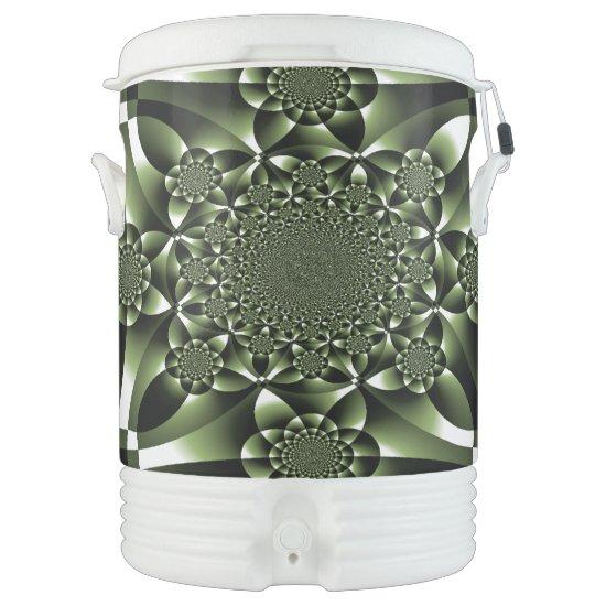 Green Forest Leaf Petals Beverage Cooler