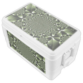 Green Forest Leaf Petals Chest Cooler