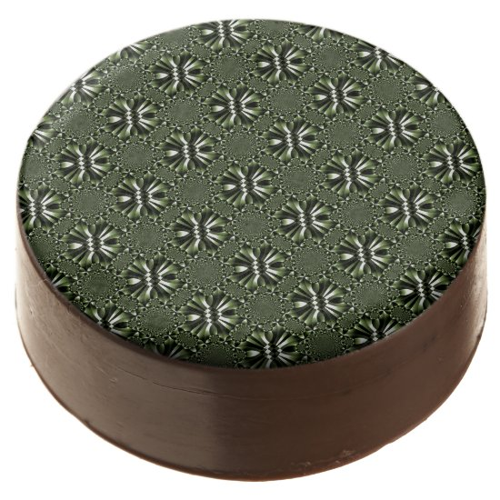 Green Forest Leaf Petals - Tiles Chocolate Covered Oreo