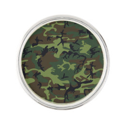 Green Forest Military Camouflage Pattern Pin