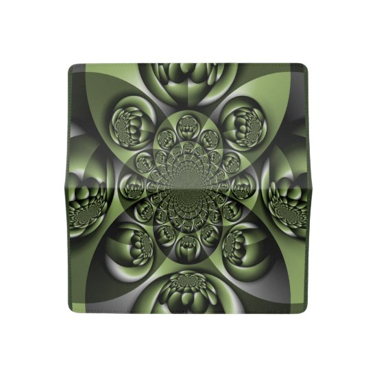 Green Forest Mini Spheres Checkbook Cover