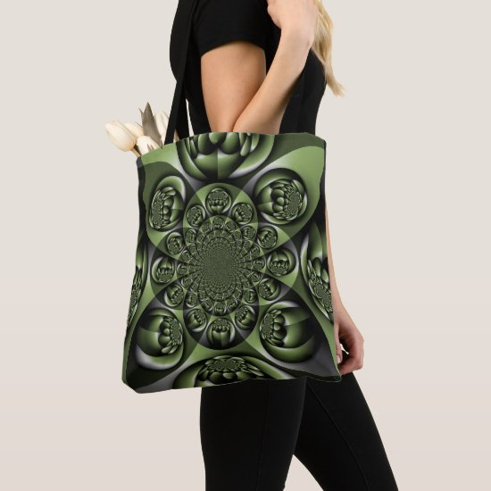 Green Forest Mini Spheres Tote Bag