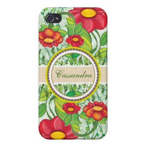 Green Forest - name 4 Cases For iPhone 4