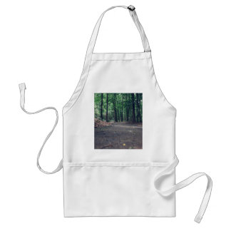 green forest narrow footpath adult apron