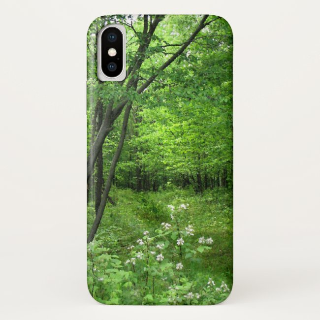 Green Forest Nature Hiking iPhone X Case
