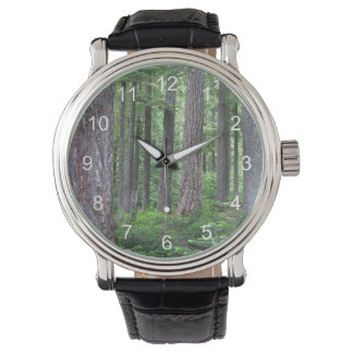 Green Forest Nature Photo Wristwatch