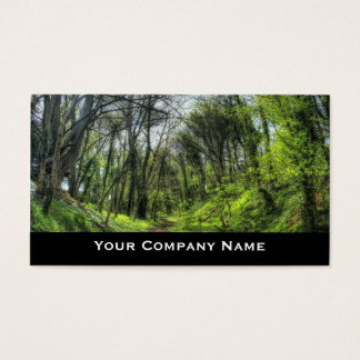 Green Forest Path Business Cards