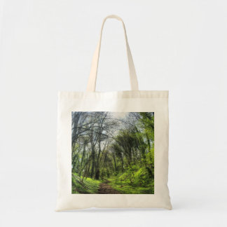 Green Forest Path HDR Tote Bag