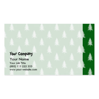 Green forest pattern business card