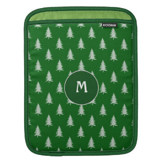 Green forest pattern iPad sleeves