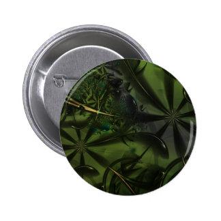 Green Forest Pretty Nature Art Button