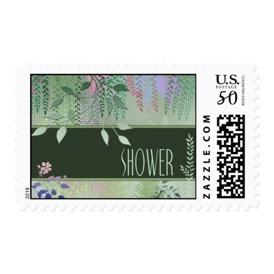 Green Forest Shower Postage