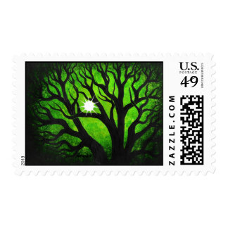 Green forest  - stamp