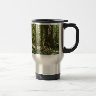 Green Forest, Trees Wilderness Nature Travel Mug