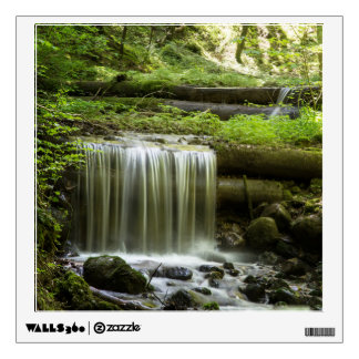 Green Forest Waterfall Wall Decal