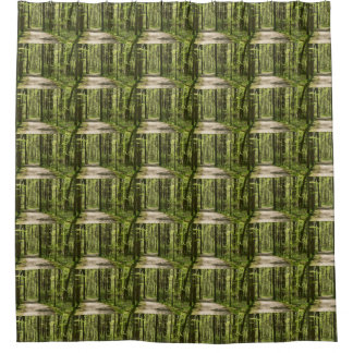 Woven shower curtains zazzle - Forest green shower curtain ...