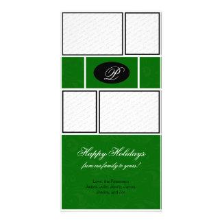 Green Formal Christmas Card