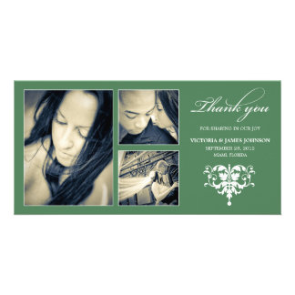GREEN FORMAL COLLAGE | WEDDING THANK YOU CARD
