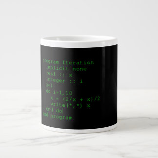 Green Fortran Code Large Coffee Mug