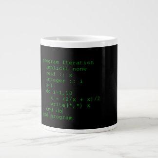 Green Fortran Code Large Coffee Mug