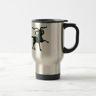 Green Four-horned Demon Goat Travel Mug
