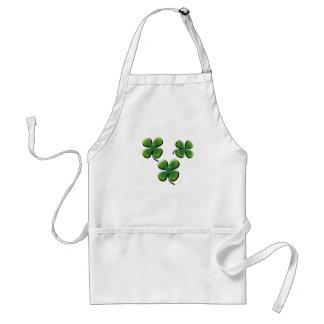 Green Four Leaf Clover Standard Apron