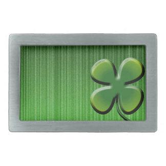 Green Four Leaf Clover Belt Buckles
