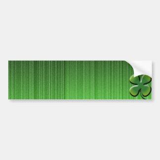 Green Four Leaf Clover Bumper Sticker