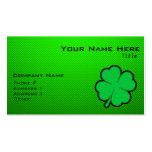 Green Four Leaf Clover Double-Sided Standard Business Cards (Pack Of 100)