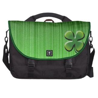 Green Four Leaf Clover Bag For Laptop