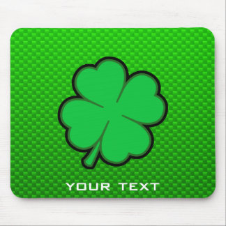 Green Four Leaf Clover Mouse Pad