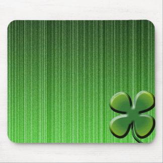 Green Four Leaf Clover Mousepad